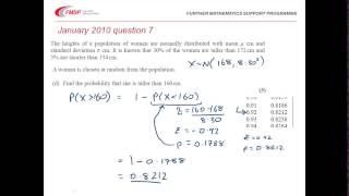 FMSP Revision Videos: Edexcel S1 - Normal Distribution