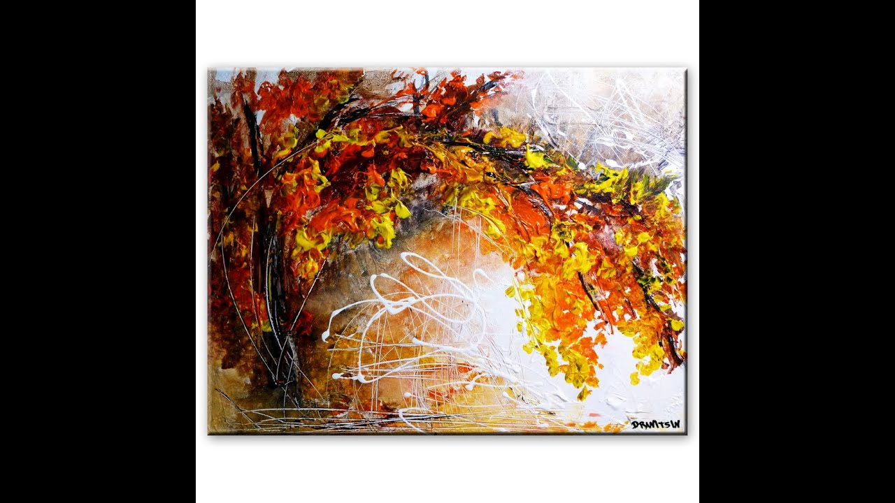 Amazing Landscape Abstract Painting Peter Dranitsin - Shared Memories Acrylics Canvas