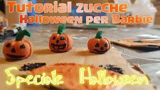 Tutorial : come fare la zucca di Halloween per barbie - speciale Halloween - barbie my life