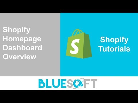 Shopify Tutorial - Shopify Home Dashboard Overview thumbnail