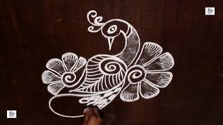 Creative & Simple #Kolam /  #rangoli Design without using Dots || #maitrin 2018
