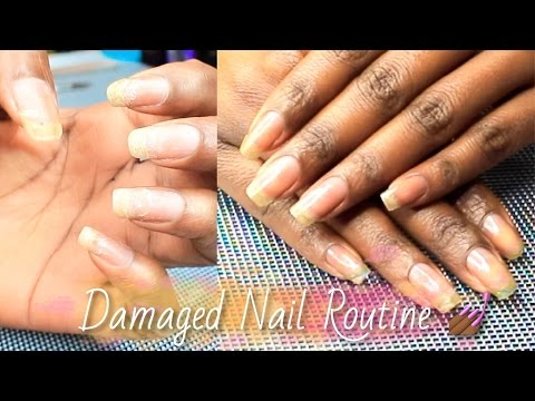 NAILS| How To Grow Out Damaged, Weak, Thin Nails 💛 SimplySubrena ...