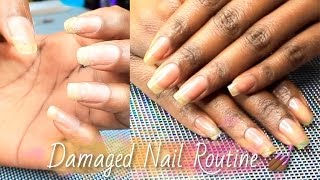 NAILS| How To Grow Out Damaged, Weak, Thin Nails | Simply Subrena
