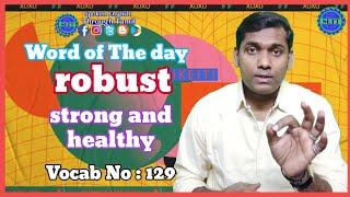 robust Tamil meaning   pronunciation & a sentence   Spoken English Through Tamil   EWM #129