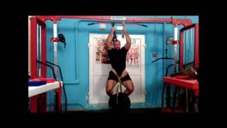 armwrestling. Георгий Хаспеков. Подтягивания на ремнях с весом 80 кг.