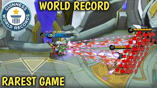 WORLD RECORD | HIGHEST ??? IN ML | RAREST GAME | MOBILE LEGENDS