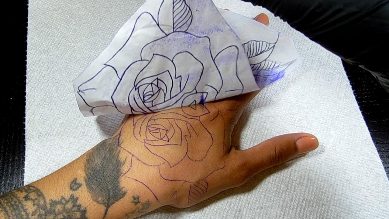 How To Apply Tattoo Stencil Onto Skin Youtube