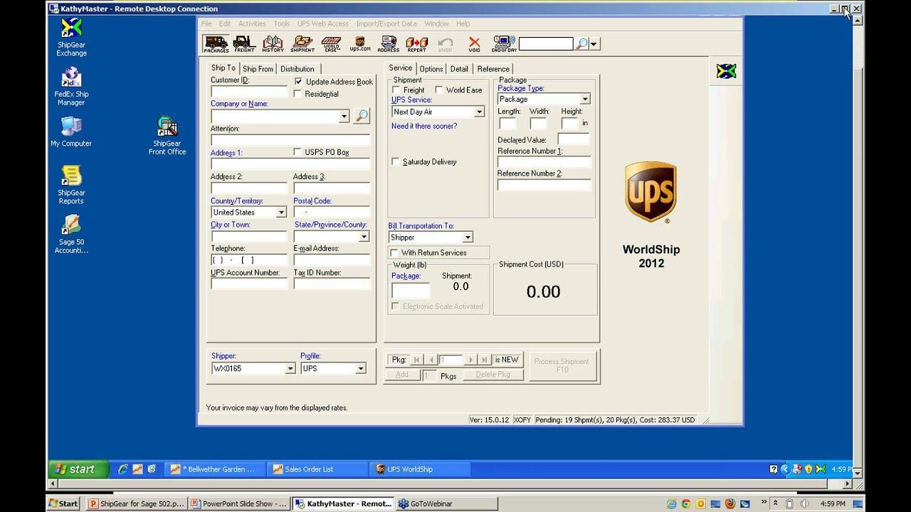 Ups Worldship 2012 Download