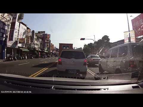 高雄大碗三寶飯慢車道打左轉燈迴轉