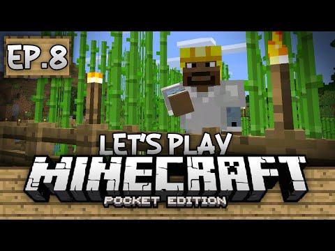 Survival Let's Play Ep. 8 - Sugar Cane Farming!!! - Minecraft PE (Pocket Edition)