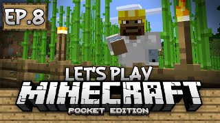 Survival Let's Play Ep. 8 - Sugar Cane Farming!!! - Minecraft PE (Pocket Edition)
