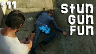 GTA 5 Free Roam - Stun Gun Fun - GTA 5 Funny Moments Episode 11 - Gamer Goat