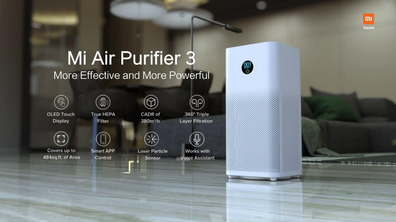 Mi Air Purifier 3 with True HEPA Filter - YouTube