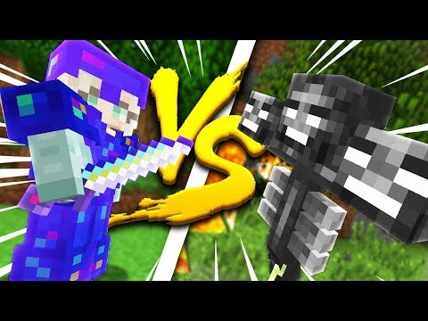 Minecraft: MY GIRLFRIEND IN FULL ULTIMATE ARMOR VS THE WITHER  WHO WINS?!  Crazie Craft Ep: 04
