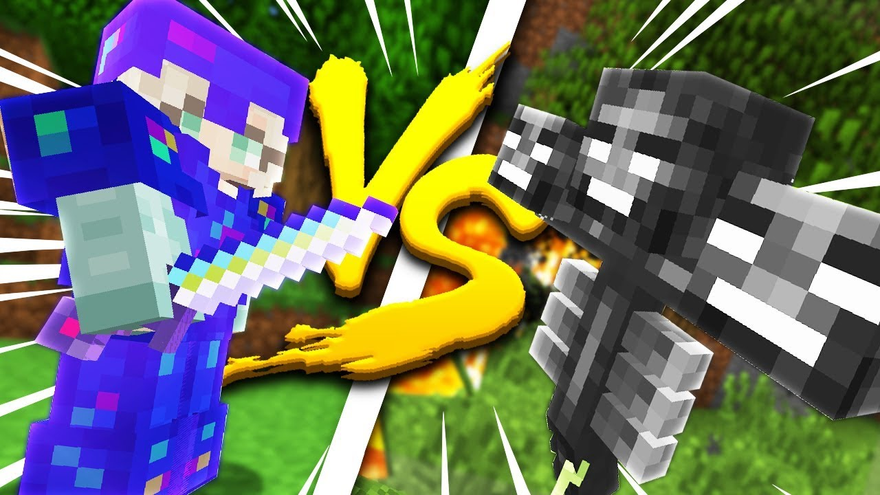 Minecraft: MY GIRLFRIEND IN FULL ULTIMATE ARMOR VS THE WITHER - WHO WINS?! - Crazie Craft Ep: 04