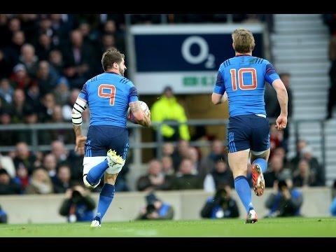 Super Sebastien Tillous-Borde Try, England v France, 21st March 2015