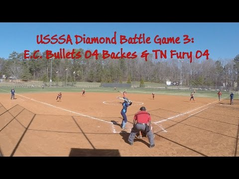 USSSA Diamond Battle Game3: EC Bullets 04 Backes & TN Fury 04