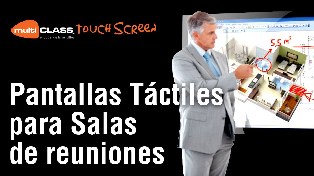 Pantallas t ctiles muliclass para salas de reuniones youtube for Sala de reuniones