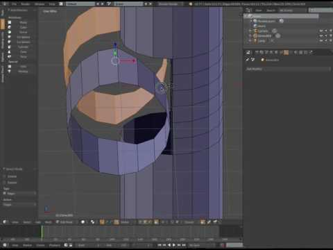 Blender: Overlap two cylinders with clean topology suitable for Sub-D's