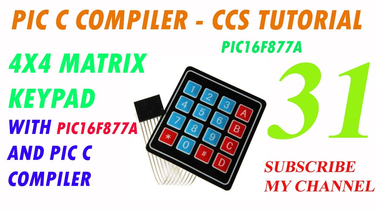 How to Interface 4x4 Matrix Keypad and 7 Segment with PIC16F877A - PIC C  COMPILER in Urdu/Hindi