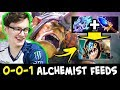 0-0-1 Alchemist FEEDS Miracle Slark items — 200 IQ support