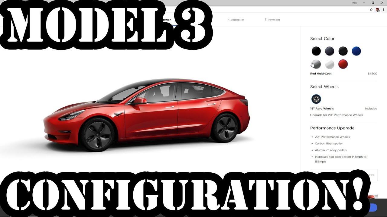 Tesla Model 3 Configuration Changes Again