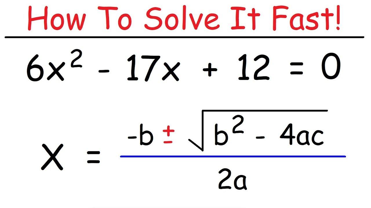 how to solve quadratic equations using the quadratic