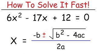 How To Solve Quadŗatic Equations Using The Quadratic Formula