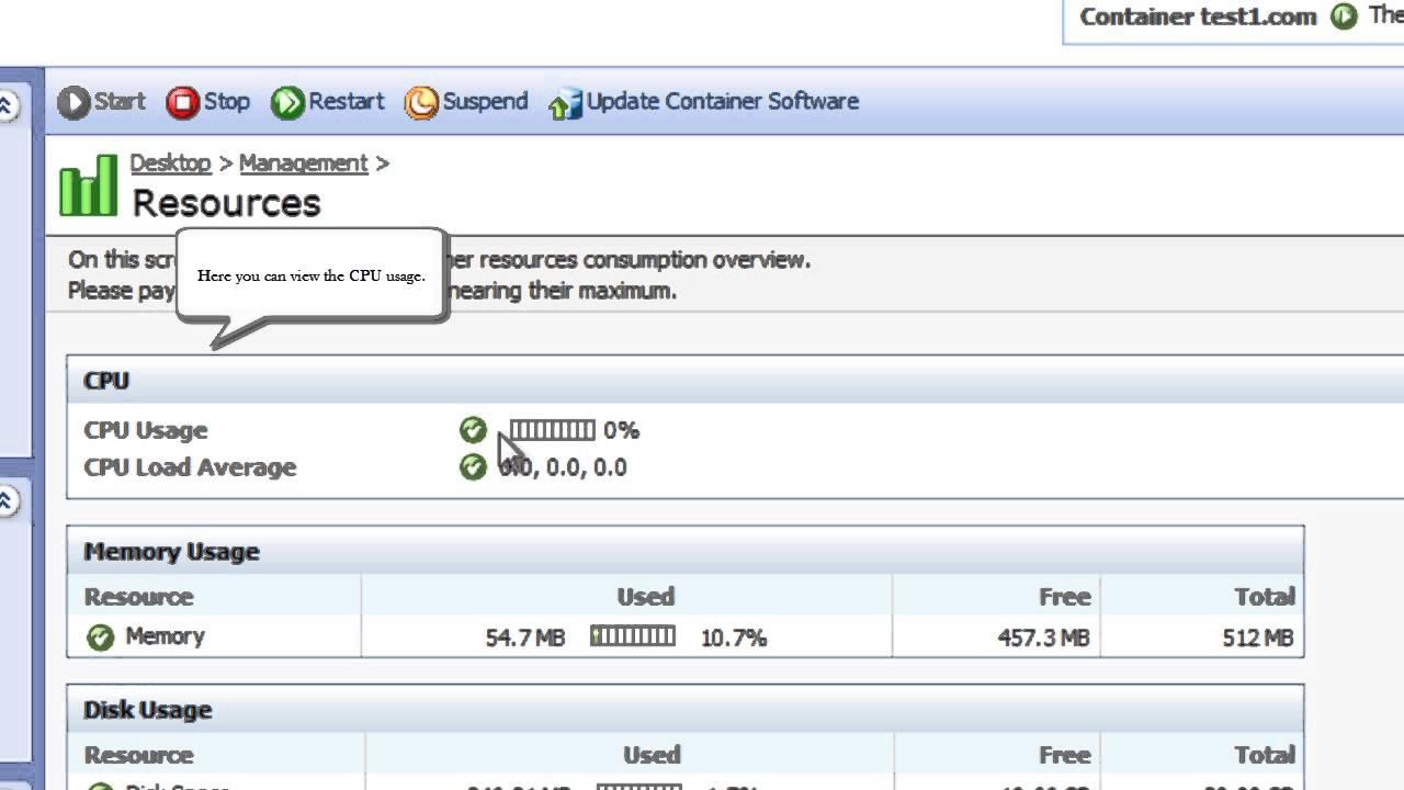 Virtuozzo Tutorial: How to monitor VPS Resources in Virtuozzo ...