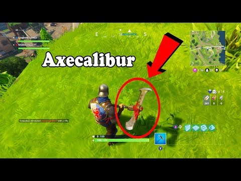 AXECALIBUR BATTLE AXE IN FORTNITE: BATTLE ROYALE