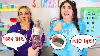 TURN THIS BARBIE INTO SLIME CHALLENGE! Slimeatory #611