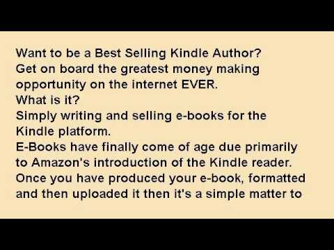 How to Be a Best Selling Kindle Author