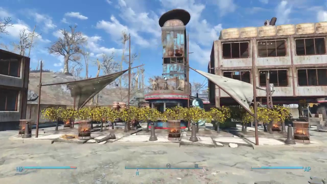 fallout 4 starlight drive in settlement build youtube