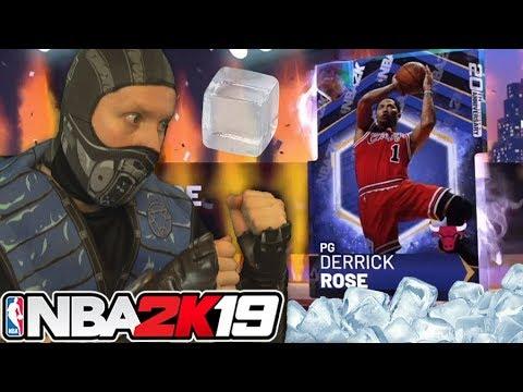 I froze for Galaxy Opal Derrick Rose NBA 2K19