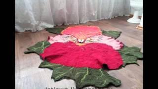 Красивые коврики своими руками из шерсти, фото разных вариантов ковриков