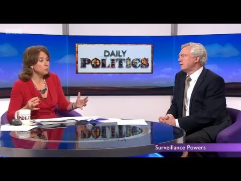 David Davis appears on the Daily Politics discussing the IP Bill and the EU Referendum