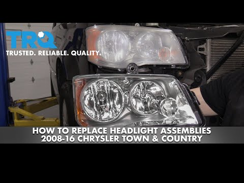 How to Replace Headlight Assemblies 2008-16 Chrysler Town & Country