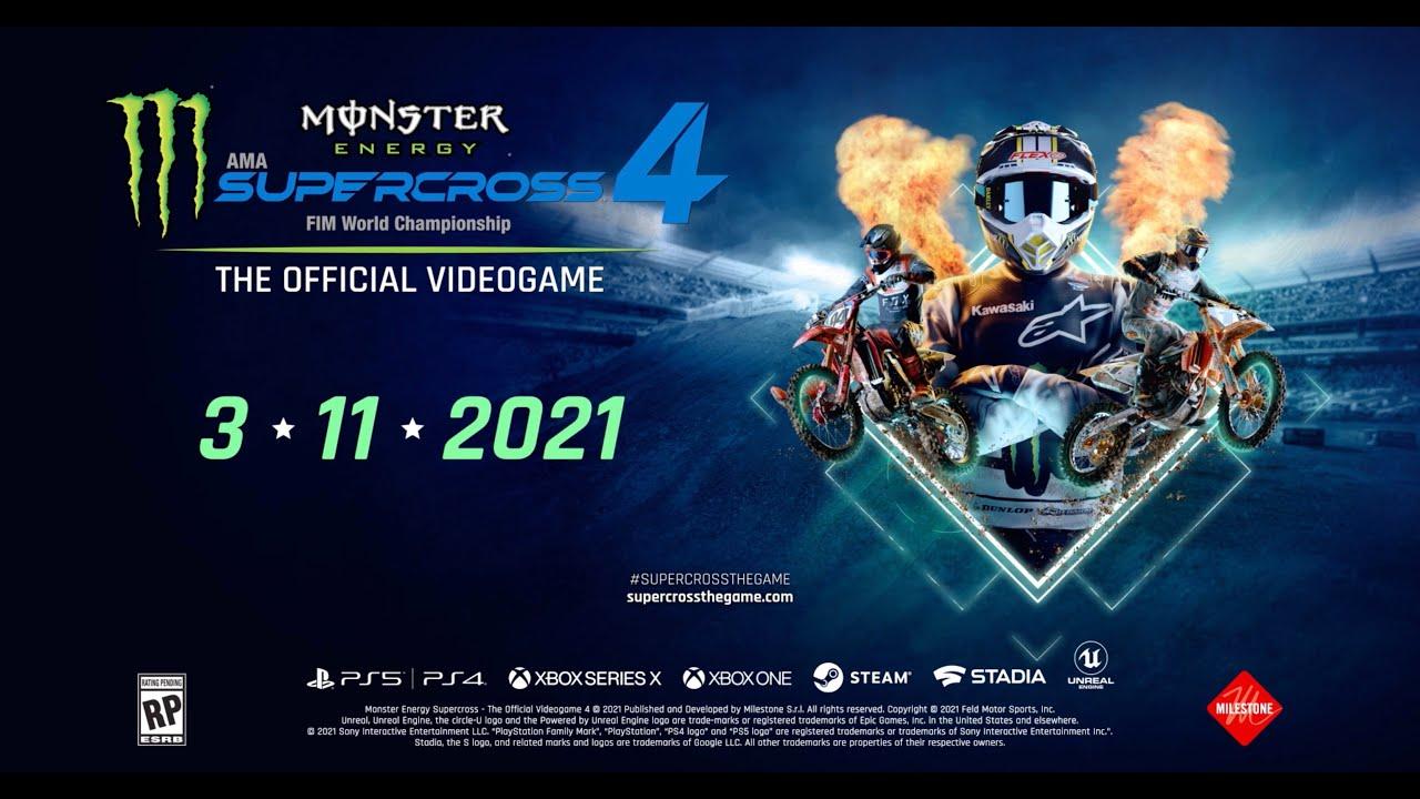 Resultado de imagem para Monster Energy Supercross - The Official Videogame 4 ps4