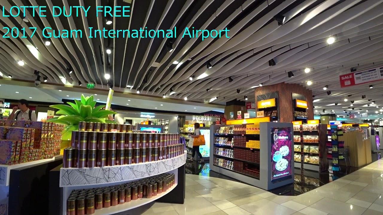 【第二弾】歩いてみました。グアム GUAM國際空港 免稅店 LOTTE DUTY FREE 2017 Guam International Airport - YouTube