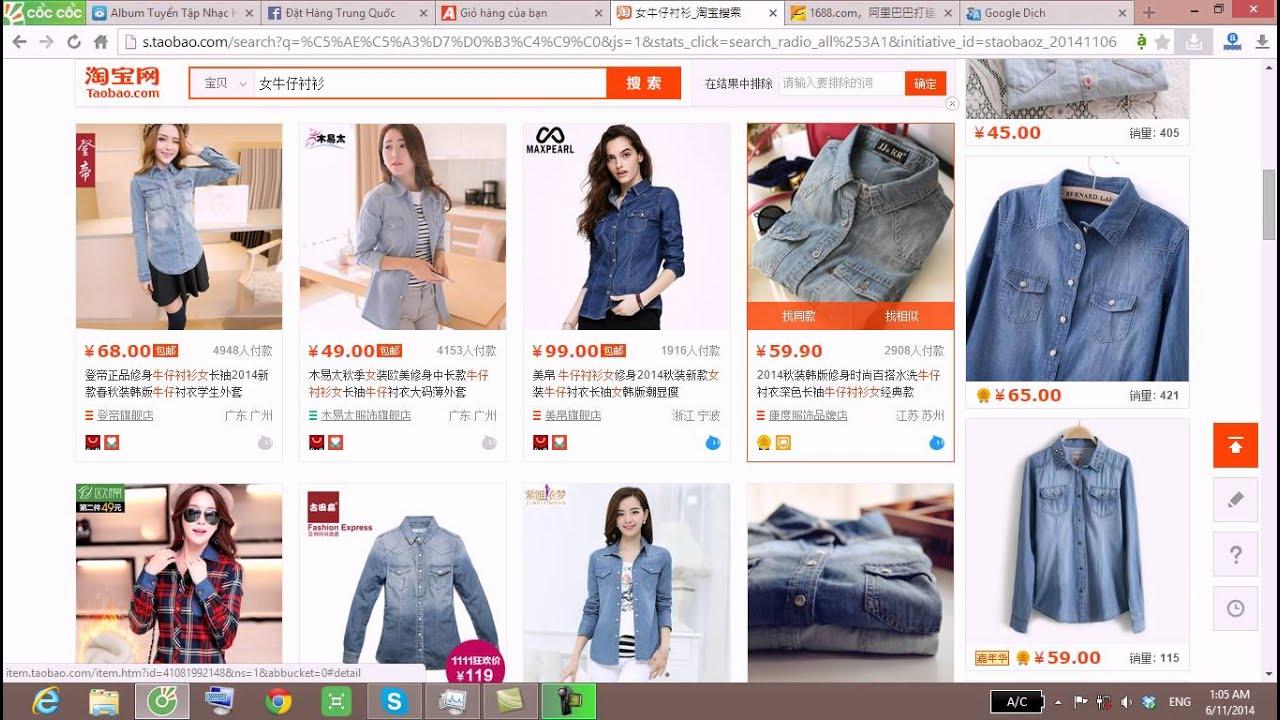 đặt hàng Quảng Châu online, nguồn hàng thời trang nữ trên taobao