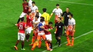 ACL 浦和VS済州 痛烈エルボー!韓国チーム暴力・乱闘の一部始終 (2017.5.31) thumbnail
