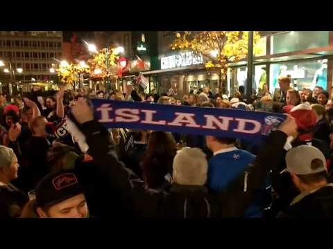 Iceland celebration after qualifying world cup 2018