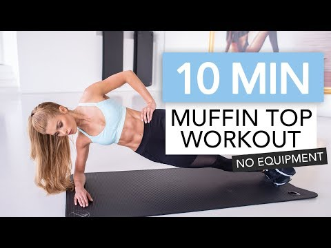 10 MIN AB WORKOUT - Bye Bye Muffin Top // No Equipment | Pamela Rf