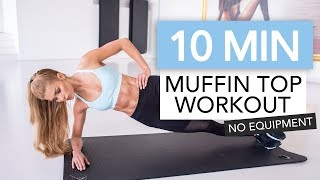 10 MIN AB WORKOUT - Bye Bye Muffin Top // No Equipment | Pamela Rf