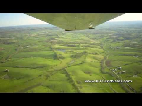 Cessna Cardinal flight over Danville and Perryville, KY horse farm land
