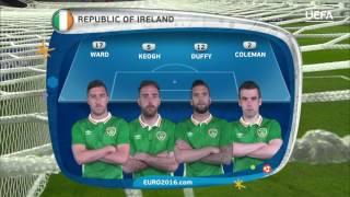 Republic of Ireland line-up v Italy: UEFA EURO 2016