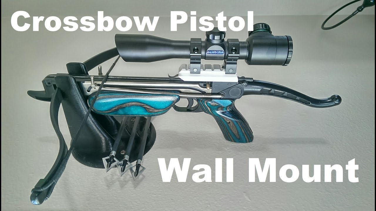 1-Day Builds: Crossbow Pistol Wall Mount - YouTube