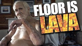THE FLOOR IS LAVA CHALLENGE!!