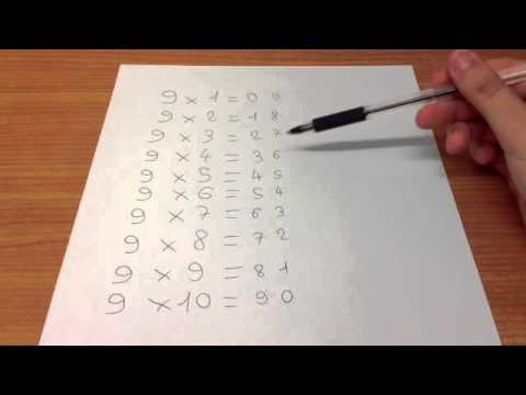 apprendre facilement table 9 astuce multiplication neuf