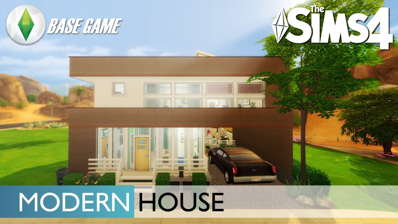 Juego base casa moderna los sims 4 speed build youtube Casas modernas sims 4 paso a paso